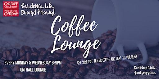 University Hall Coffee Lounge | Lolfa Goffi Neuadd y Brifysgol