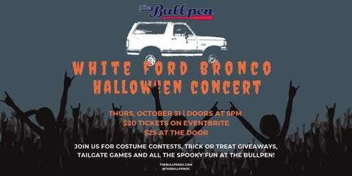 Halloween at The Bullpen with White Ford Bronco
