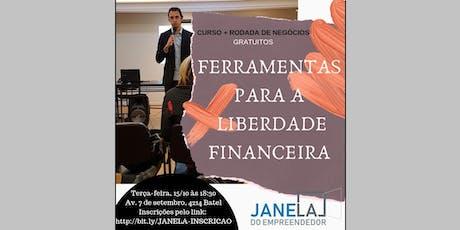 Curso Ferramentas para a Liberdade Financeira + Rodada de Negócios ingressos
