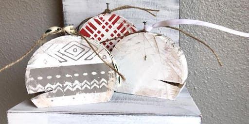 Piper Barn Chalk Couture wooden shelf ornaments class