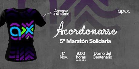 """Remera de la  5° Maratón Solidaria """"Acordonarse"""" entradas"""
