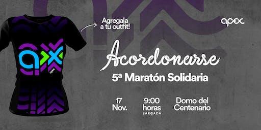 """Remera de la  5° Maratón Solidaria """"Acordonarse"""""""