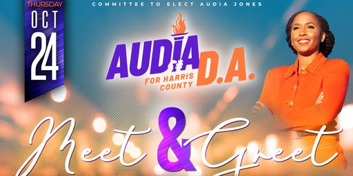 Meet & Greet  Audia Jones, Candidate for Harris County District Attorney