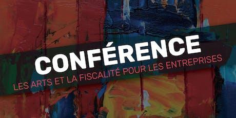 Conférence ''Les arts et la fiscalité pour les entreprises'' tickets