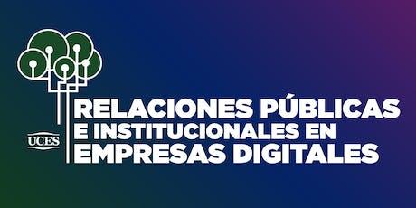 Relaciones Públicas e Institucionales en Empresas Digitales entradas