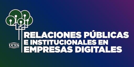Relaciones Públicas e Institucionales en Empresas Digitales