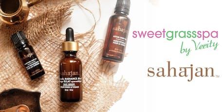 Fall in Love with Ayurveda with sweetgrass spa & Sahajan skincare tickets