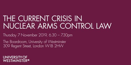 The Current Crisis in Nuclear Arms Control Law tickets