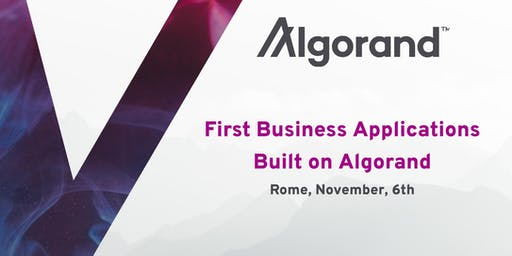 First Business Applications Built on Algorand