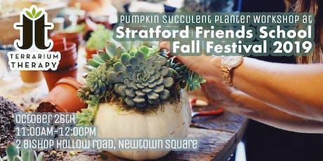 Pumpkin Succulent Planter Workshop at Stratford Friends School Fall Fest. tickets
