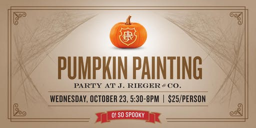 Pumpkin Painting Party at J. Rieger Co.!