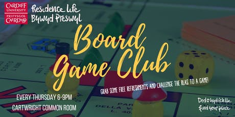 Cartwright Court Board Game Club | Clwb Gemau Bwrdd Cwrt Cartwright tickets