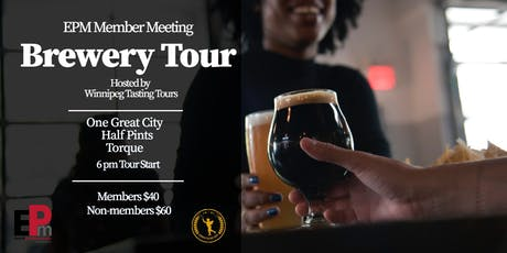 EPM Member Meeting - Brewery Tour tickets