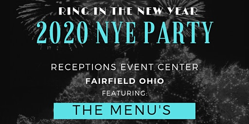 Receptions Fairfield New Years Eve 2020 with The Menus!