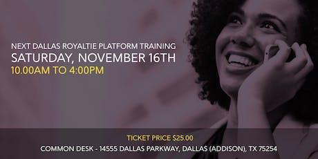 Dallas Royaltie Platform Training tickets
