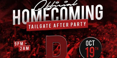Official Homecoming Tailgate After Party