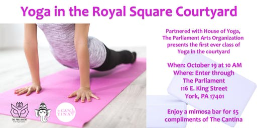 Yoga in the Royal Square Courtyard