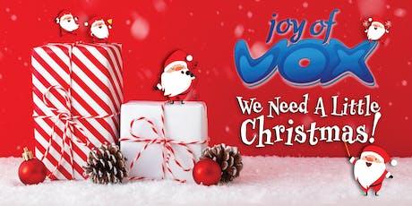 Joy of Vox (JOV) Christmas 2019 tickets