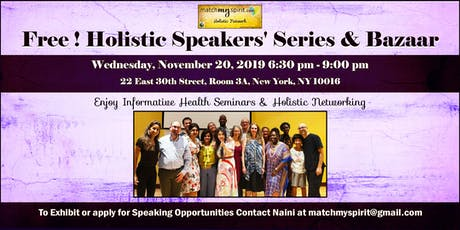 Free! Holistic Speakers' Series & Bazaar tickets