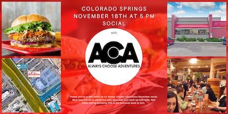 November Colorado Springs Social with Always Choose Adventures tickets