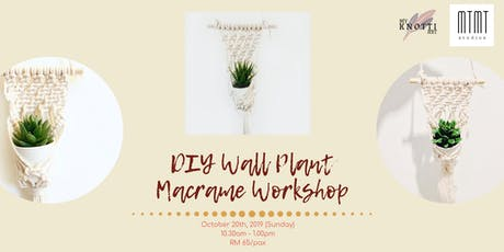 DIY Wall Plant Macrame Workshop tickets