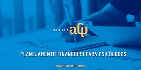 Planejamento Financeiro para Psicólogos ingressos