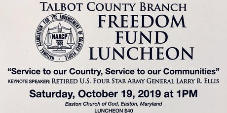 Talbot County NAACP Freedom Fund Luncheon honoring Dock Street Foundation tickets