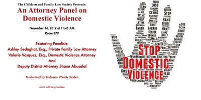 Attorney Panel on Domestic Violence, Hosted by CFLS