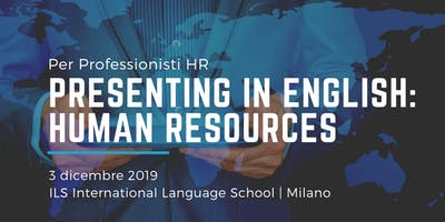 Presenting in English: Human Resources