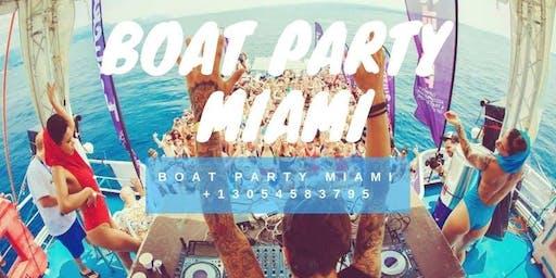 #Miami Party Boat  Open-bar Jet-ski Included