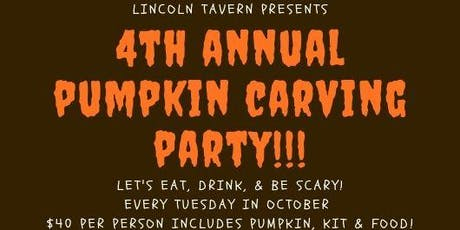4th Annual Pumpkin Carving at Lincoln Tavern tickets