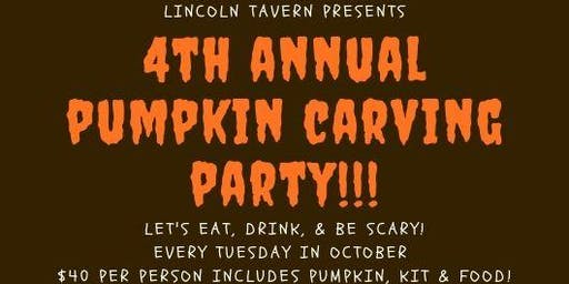 4th Annual Pumpkin Carving at Lincoln Tavern