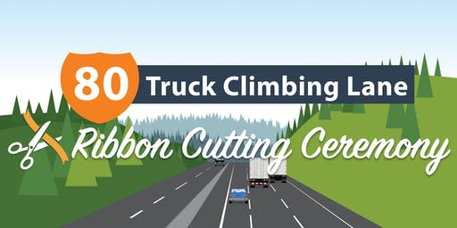 I-80 Truck Climbing Lane Ribbon Cutting Ceremony