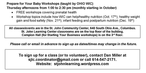 Preparing for Your Baby Workshops