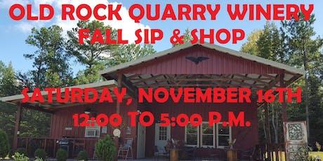 Fall Sip & Shop tickets