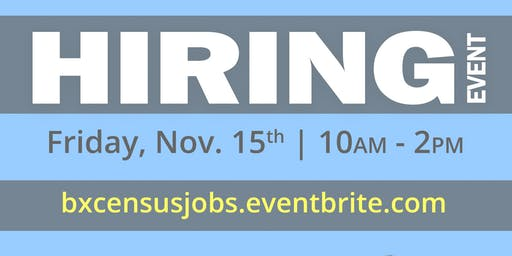 Hiring Event - U.S. Census Jobs