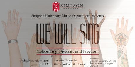 We Will Sing! Celebrating Diversity and Freedom tickets