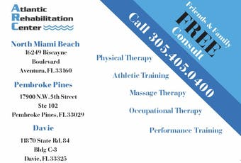 Free Physical Therapy Screening at Atlantic Rehab Center tickets