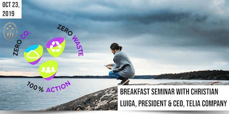 Breakfast Seminar with Christian Luiga, President and CEO of Telia Company tickets