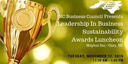 NCBC Leadership in Business Sustainability Awards Luncheon