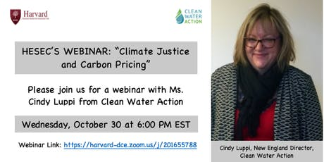 HESEC'S Webinar: Climate Justice and Carbon Pricing tickets