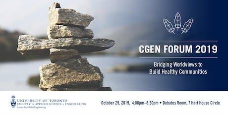 CGEN Forum 2019: Bridging Worldviews to Build Healthy Communities tickets