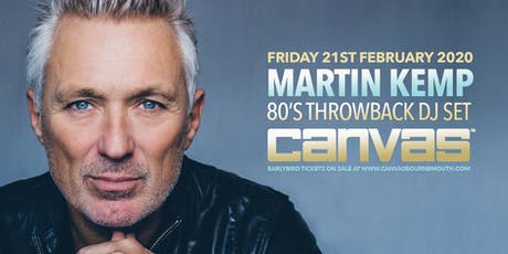 Martin Kemp's Back To The 80's Party! tickets