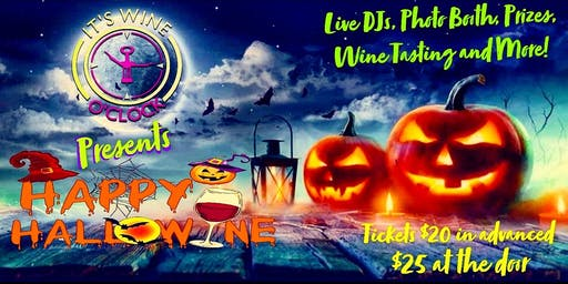 It's Wine O'Clock Presents Happy Hallowine!