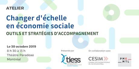 Atelier  - Changer d'échelle en économie sociale tickets