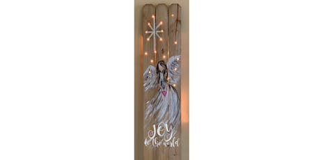 Angel with Lights Fence Sip & Paint Party Art Maker Create Class tickets