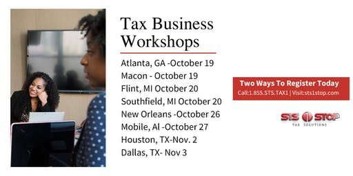 STS 1 Stop Tax Business Seminar - Macon