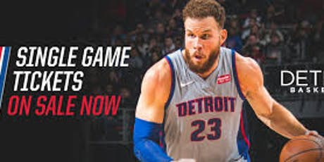 Pistons Home Games - M.L.King High c/o 2000 Fundraising  tickets
