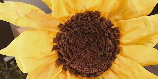 Paper Flower Making: The Sunflower