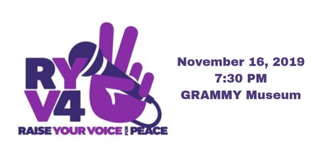 Raise Your Voice For Peace tickets